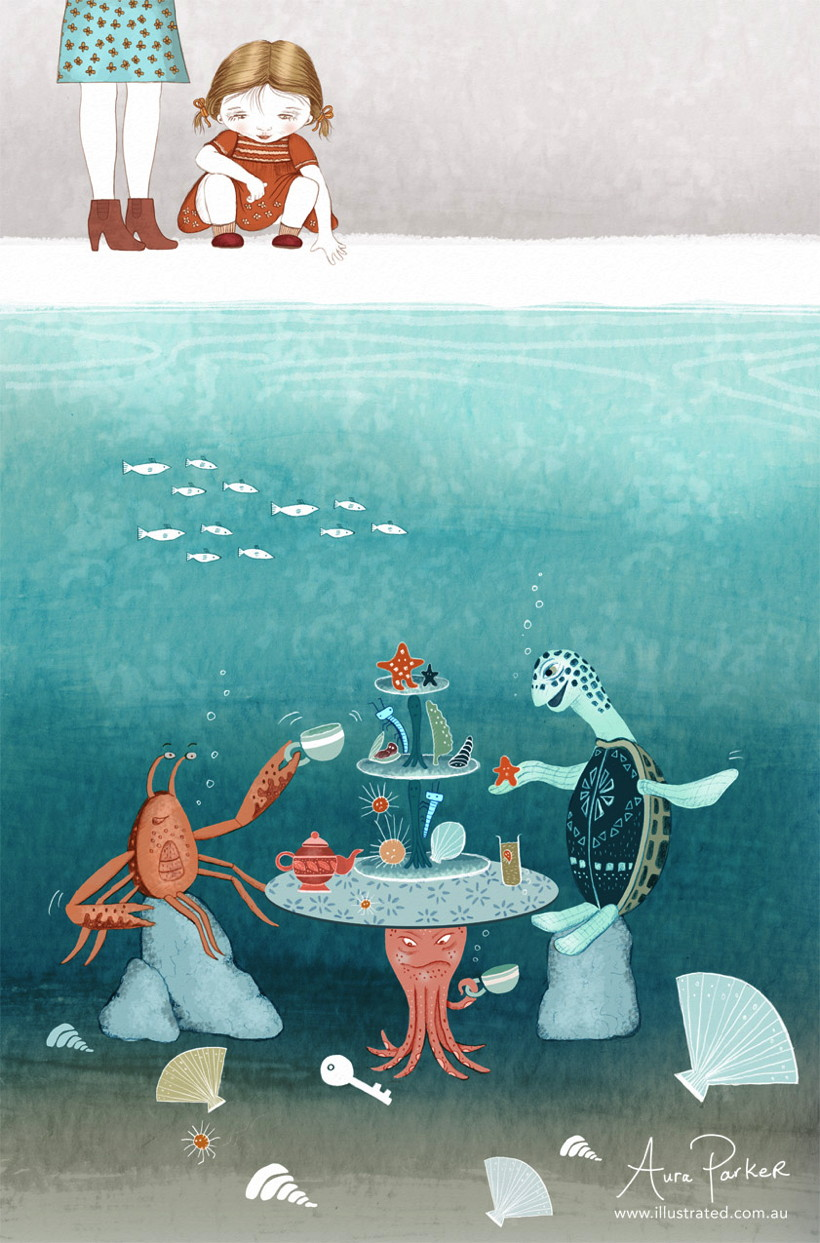 A high tea under the sea